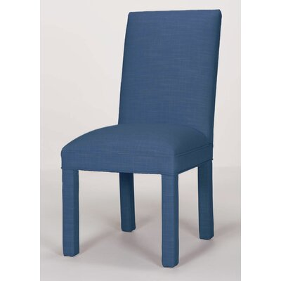 Brook Solid Upholstered Dining Chair Upholstery: Sapphire