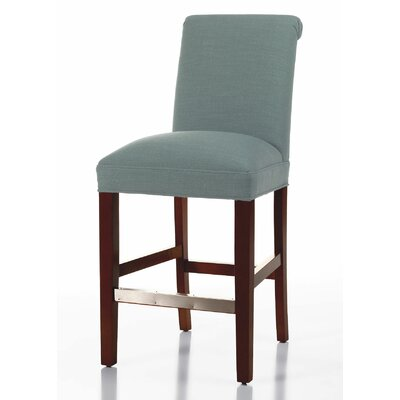 Donald 26 Bar Stool Leg Color: Matte Black, Upholstery Color: Cloud