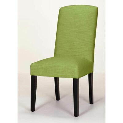 Anderson Side Chair Base Finish: Dark Walnut, Upholstery: Lime