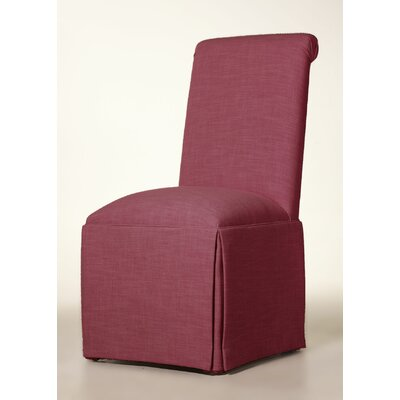 Arvidson Solid Back Skirted Upholstered Dining Chair Upholstery: Fuchsia