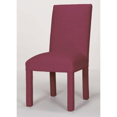Brook Solid Parsons Chair Upholstery: Fuchsia
