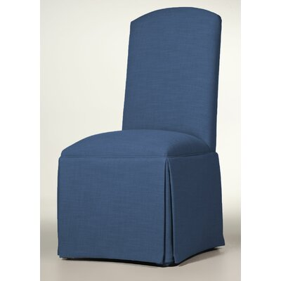 Lamoille Traditional Skirted Upholstered Dining Chair Upholstery: Sapphire