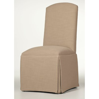 Lamoille Traditional Skirted Upholstered Dining Chair Upholstery: Tan