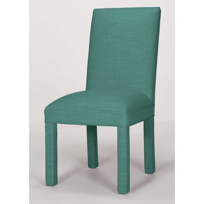 Brook Solid Parsons Chair Upholstery: Turquoise