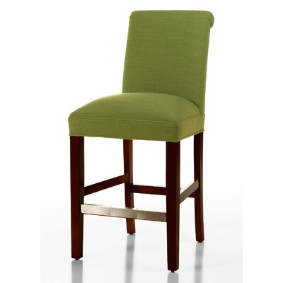 Donald 26 Bar Stool Leg Color: Brown Cherry, Upholstery Color: Lime