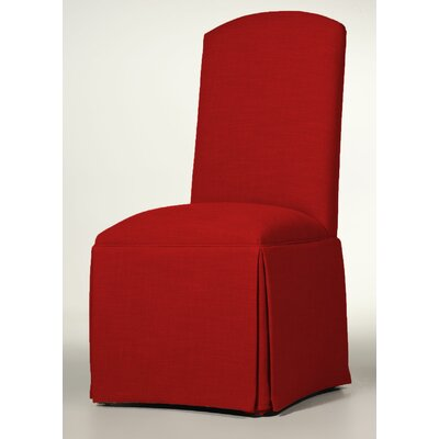 Lamoille Traditional Skirted Upholstered Dining Chair Upholstery: Red