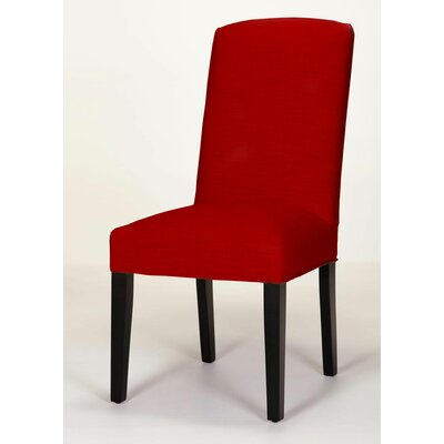 Anderson Side Chair Base Finish: Dark Walnut, Upholstery: Red