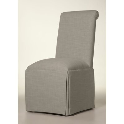 Arvidson Solid Back Skirted Upholstered Dining Chair Upholstery: Pewter