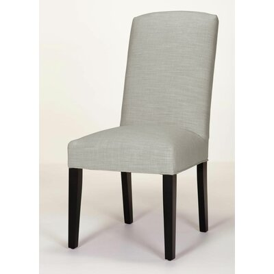 Anderson Side Chair Base Finish: Dark Walnut, Upholstery: Pewter