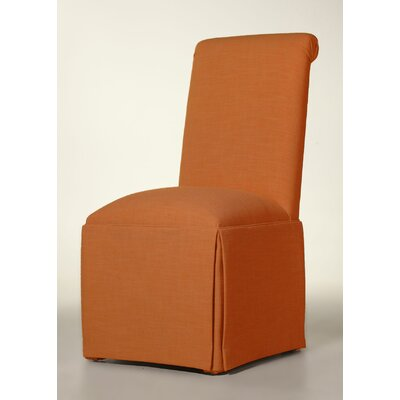 Sardis Skirted Parsons Chair Upholstery: Orange