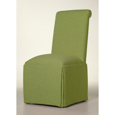 Arvidson Solid Back Skirted Upholstered Dining Chair Upholstery: Lime