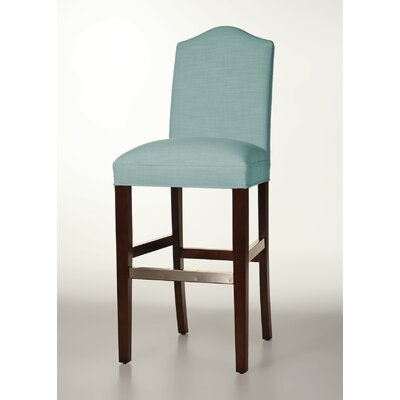 Mackenzie 30 Bar Stool Base Finish: Dark Walnut, Upholstery: Cloud