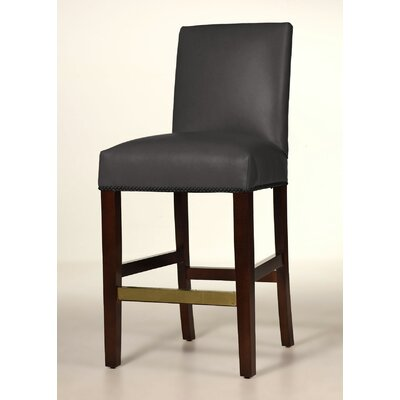Hunter 26 inch Bar Stool Upholstery: Steel Gray, Base Finish: Matte Black