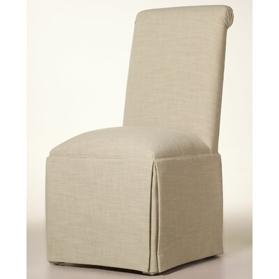Arvidson Solid Back Skirted Upholstered Dining Chair Upholstery: Cream