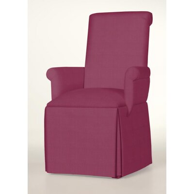 Hadlock Skirted Arm Chair Upholstery: Fuchsia