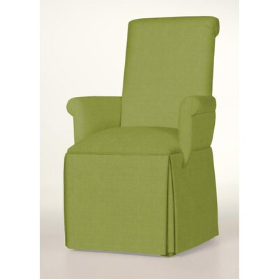 Arvidson Skirted Arm Chair Upholstery: Lime