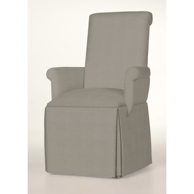 Hadlock Skirted Arm Chair Upholstery: Pewter