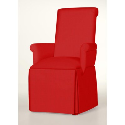 Hadlock Skirted Arm Chair Upholstery: Red