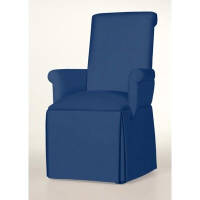 Hadlock Skirted Arm Chair Upholstery: Sapphire
