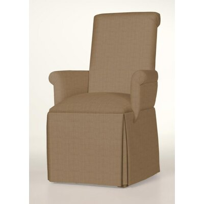 Hadlock Skirted Arm Chair Upholstery: Tan