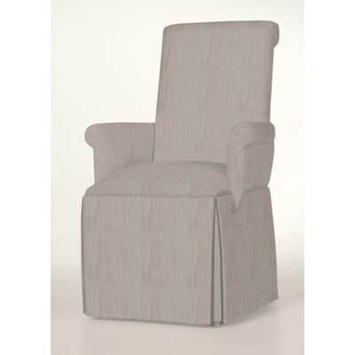 Hadlock Skirted Arm Chair Upholstery: Stone