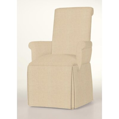 Hadlock Skirted Arm Chair Upholstery: Linen