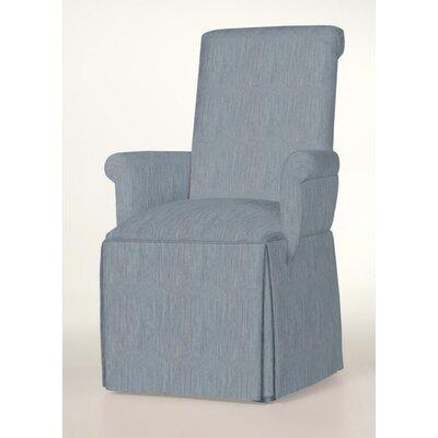 Hadlock Skirted Arm Chair Upholstery: Denim