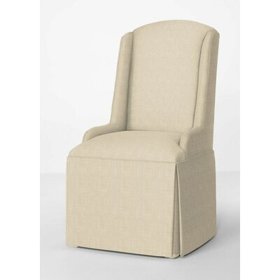 Doric Petite Wing Back Skirted Arm Chair Upholstery: Cream
