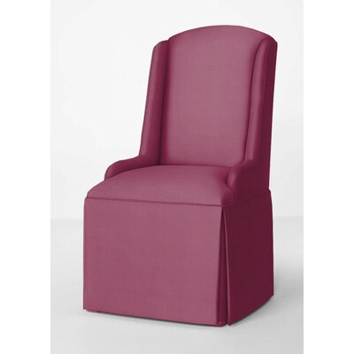 Doric Petite Wing Back Skirted Arm Chair Upholstery: Fuchsia