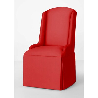 Doric Petite Wing Back Skirted Arm Chair Upholstery: Red