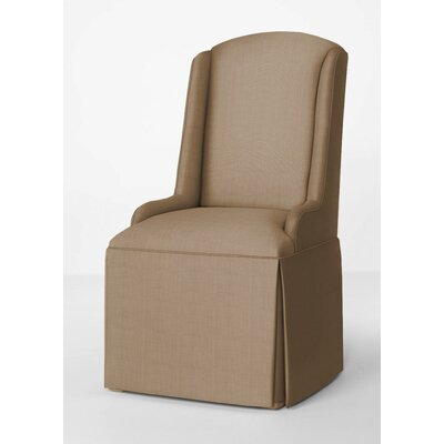 Doric Petite Wing Back Skirted Parsons Chair Upholstery: Tan