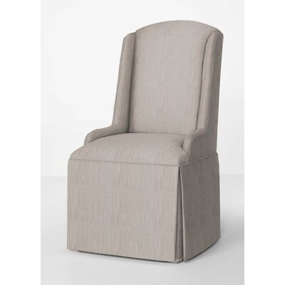 Doric Petite Wing Back Skirted Parsons Chair Upholstery: Stone