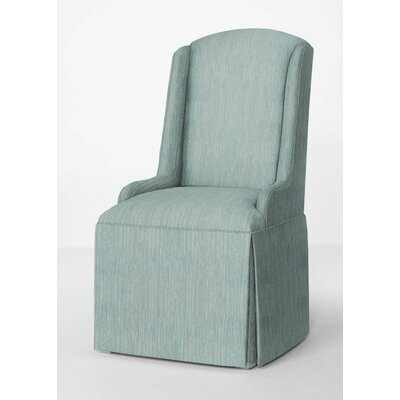 Doric Petite Wing Back Skirted Parsons Chair Upholstery: Bahama