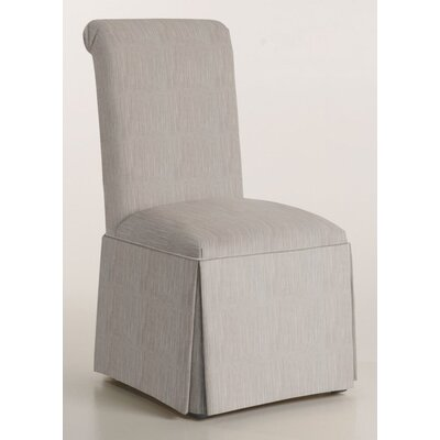 Arvidson Solid Back Skirted Upholstered Dining Chair Upholstery: Stone