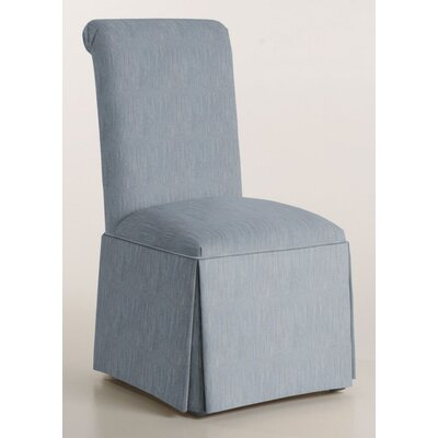Arvidson Solid Back Skirted Upholstered Dining Chair Upholstery: Denim
