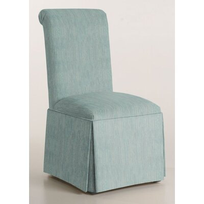 Arvidson Solid Back Skirted Upholstered Dining Chair Upholstery: Bahama
