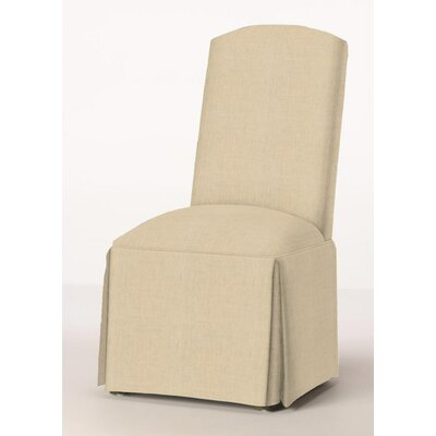 Lamoille Traditional Skirted Upholstered Dining Chair Upholstery: Linen