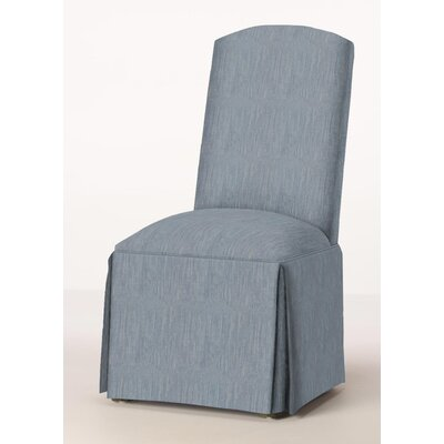 Lamoille Traditional Skirted Upholstered Dining Chair Upholstery: Denim