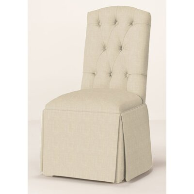 Pearce Diamond Tufted Skirted Parsons Chair Upholstery: Cream