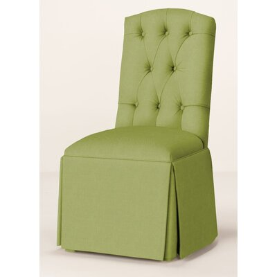 Pearce Diamond Tufted Skirted Parsons Chair Upholstery: Lime