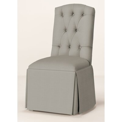 Pearce Diamond Tufted Skirted Parsons Chair Upholstery: Pewter