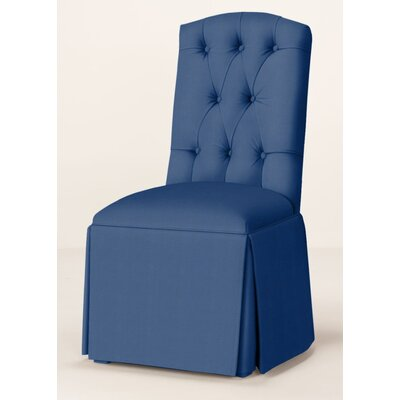 Pearce Diamond Tufted Skirted Parsons Chair Upholstery: Sapphire