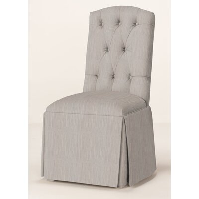 Pearce Diamond Tufted Skirted Parsons Chair Upholstery: Stone