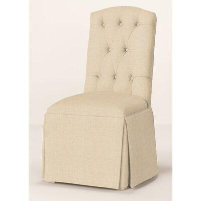 Pearce Diamond Tufted Skirted Parsons Chair Upholstery: Linen