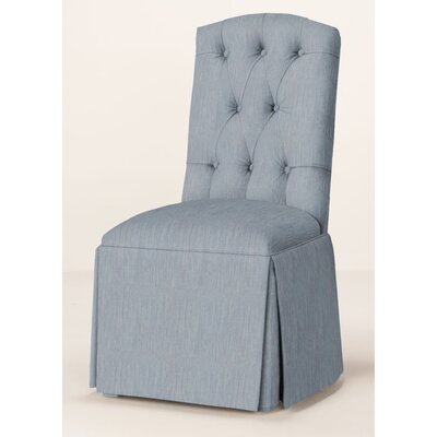 Pearce Diamond Tufted Skirted Parsons Chair Upholstery: Denim