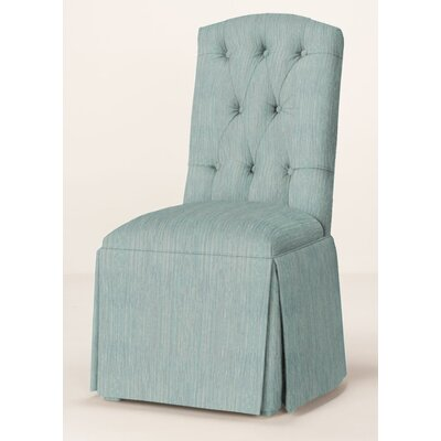 Pearce Diamond Tufted Skirted Parsons Chair Upholstery: Bahama