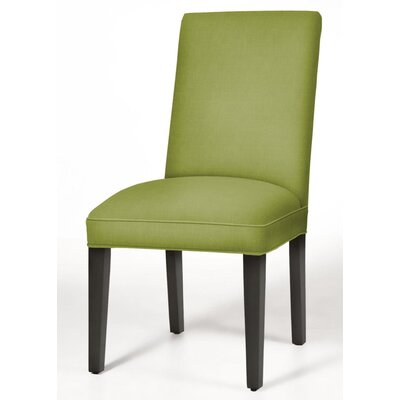 Pearl Parsons Chair Upholstery: Lime, Finish: Matte Black