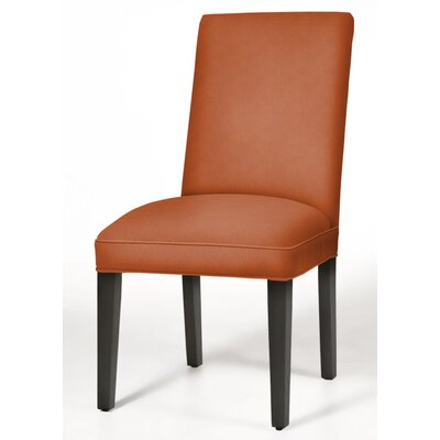 Pearl Parsons Chair Upholstery: Orange, Finish: Matte Black