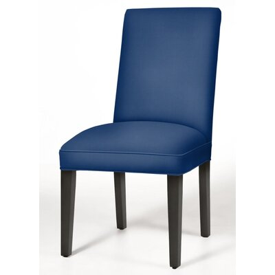 Pearl Parsons Chair Upholstery: Sapphire, Finish: Matte Black