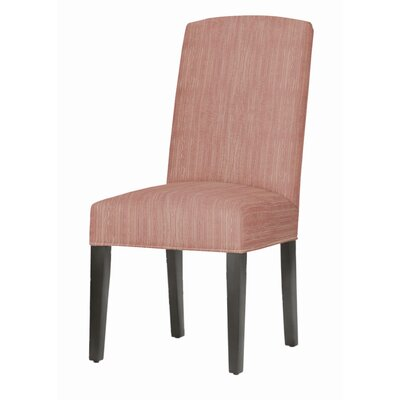 Asbury Upholstered Dining Chair Leg Color: Matte Black, Upholstery Color: Vintage Red